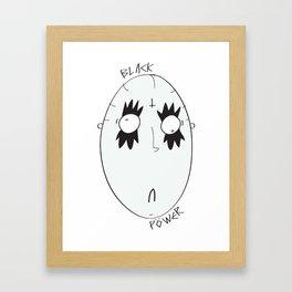 """""""Black power"""" Framed Art Print"""