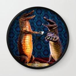 The Curiosity Shop Crocodiles Wall Clock