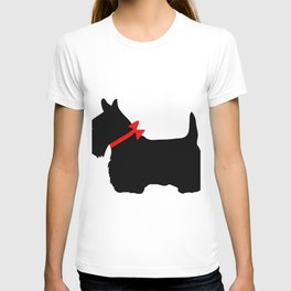 Scottie Dog with Red Bow T-shirt