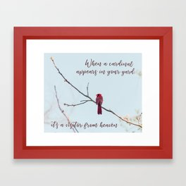 Visitor from Heaven Framed Art Print