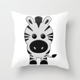 Cebra de Peluche Throw Pillow
