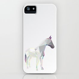 Geometric horse 1 iPhone Case
