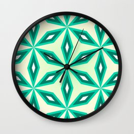 Diamonds and flowers Wall Clock