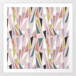 Triangle Play Mosaic 1 Art Print