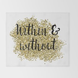 Within and without - golden jazz Throw Blanket