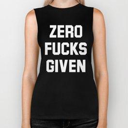 Zero Fucks Given (Black & White) Biker Tank