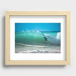 Hossegor Beach, France. Surf World tour Recessed Framed Print