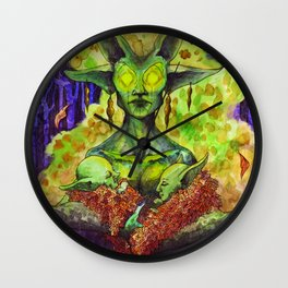 The Green Mother Wall Clock