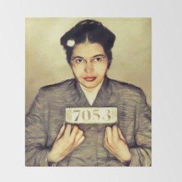 Rosa Parks, Civil Rights Activist Throw Blanket