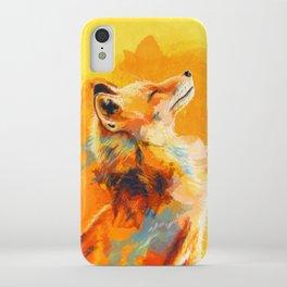 Blissful Light - Fox portrait iPhone Case