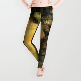 Laudanum, Vintage Advertisement Collage Leggings