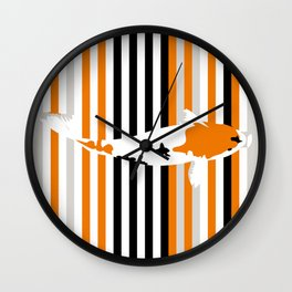 Colour koi Wall Clock