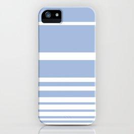 Scandi Pastel Cornflower Stripes iPhone Case