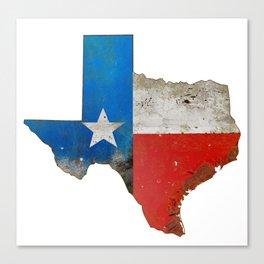 Rustic Texas Sign Canvas Print