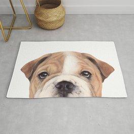 Bulldog Original painting Dog illustration original painting print Rug