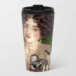 The Madame Blanchefleur Apolline brings a White Tiger to the Feast of the Epiphany Metal Travel Mug