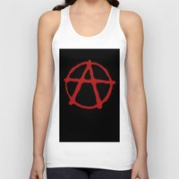 anarchy Tank Tops featuring Anarchy by brett66