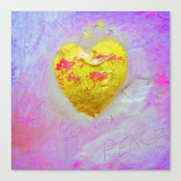 LOVE AND PEACE Canvas Print