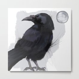 A Raven, Nothing More Metal Print
