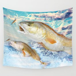 Red Fish Wall Tapestry