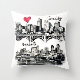 I love Twin City Throw Pillow
