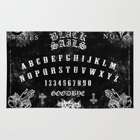 ouija Area & Throw Rugs featuring ouija by Daneel Johnstone
