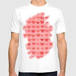 Pink Valentines Love Hearts T-shirt