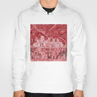 pittsburgh Hoodies featuring pittsburgh city skyline by Bekim ART