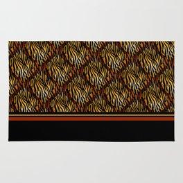 Tiger Stripe Mosaic Tile Modern Abstract Rug