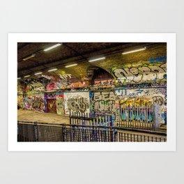 Graffiti Tunnel Art Print