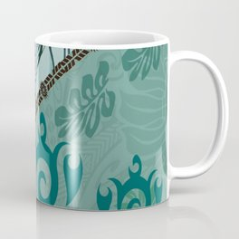 Hawaiian Tapa Cloth - Traditional Print Coffee Mug