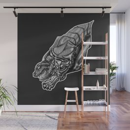 Feral Greyscale - Giger Tribute Wall Mural