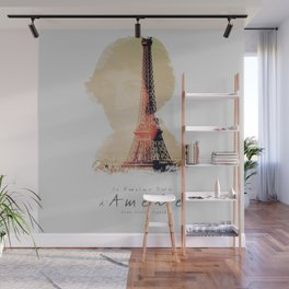 Amelie, minimalist movie poster, french film playbill, the fabulous life of Amélie Poulain, Wall Mural