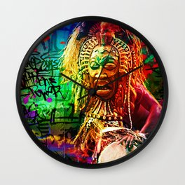 Djembe Healing Wall Clock