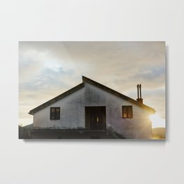 Quiet house at sunset Metal Print