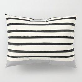 Storm Grey x Stripes Pillow Sham
