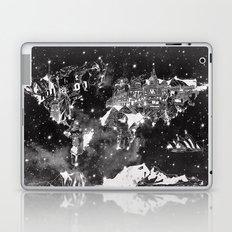 world map galaxy black and white Laptop & iPad Skin