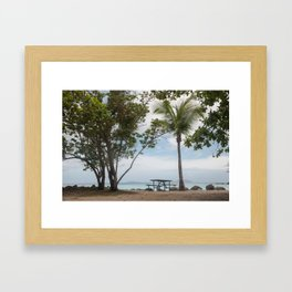 Cinnamon Bay Picnic Table, St John 2010 Framed Art Print