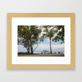 Cinnamon Bay Picnic Table, St John 2010 Framed Art Print