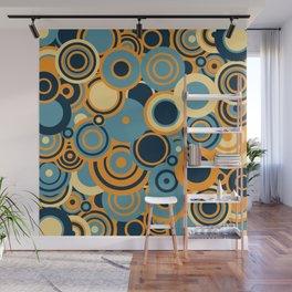 circles-blue-orange-cream Wall Mural