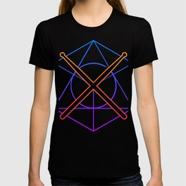 Retro 80s Psychedelic Drum Sticks T-shirt