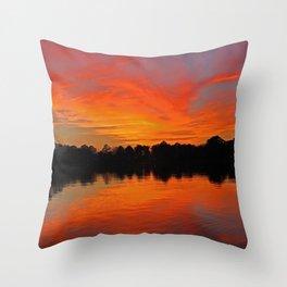 Lafayette River Sunset Throw Pillow