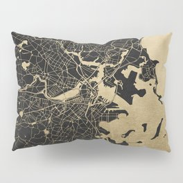 Boston Gold and Black Invert Pillow Sham