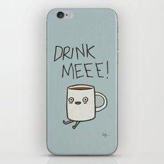 Drink Me Coffee iPhone & iPod Skin