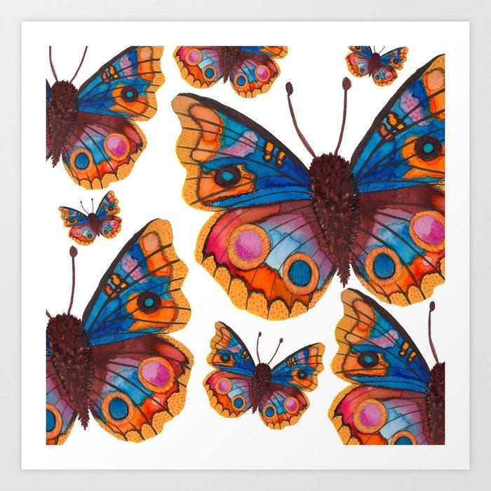 Blue Buckeye Butterflies Kunstdrucke