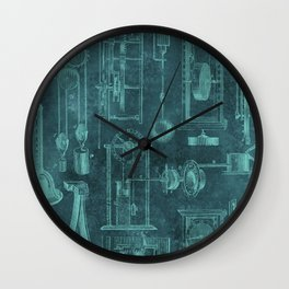 Instruments of Time Neck Gator Teal Vintage Timepieces Wall Clock
