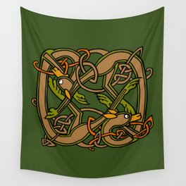 Celtic Hounds Knot One Wall Tapestry
