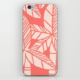 Tropical Palm Tree Composition Coral iPhone Skin