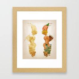 Don Djembe stain Framed Art Print