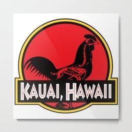 Kauai, Hawaii Jurassic Park Rooster Metal Print